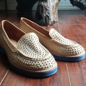 Jeffrey Campbell studded heeled loafer